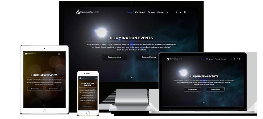 website voor Illumination events