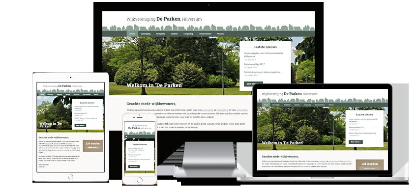 De Parken - Portfolio WordPress websites Sbddesign