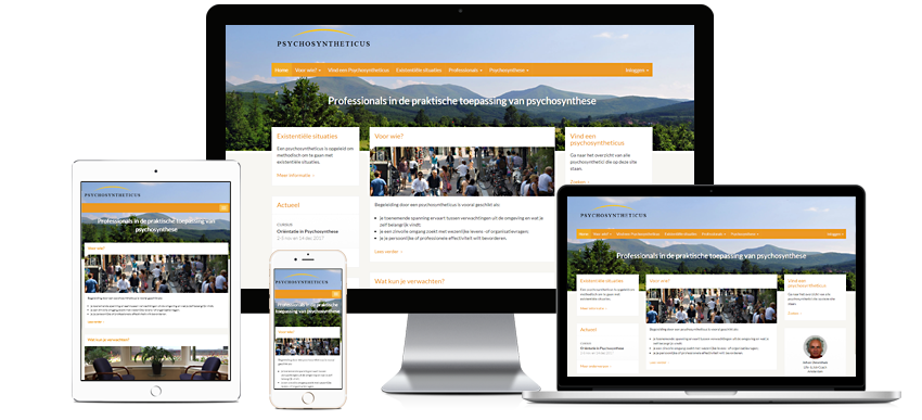 Instituut voor Psychosynthese - Portfolio WordPress websites Sbddesign