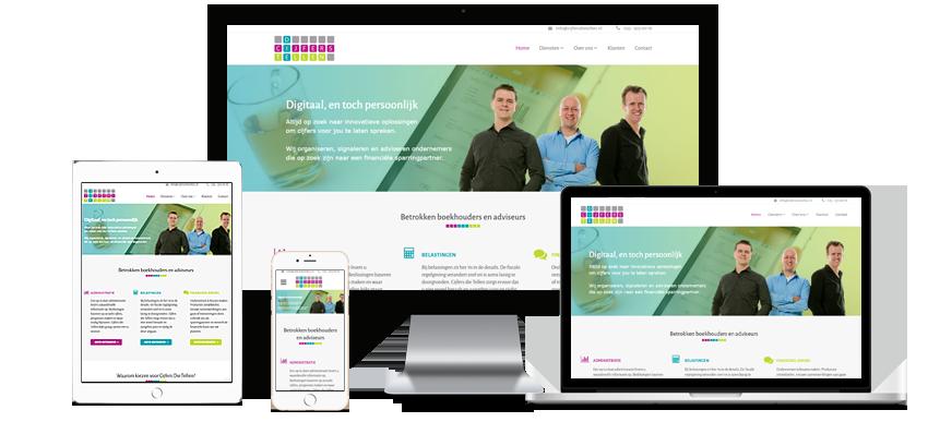 Webdesign voor Administratiekantoor Cijfers Die Tellen in Hilversum
