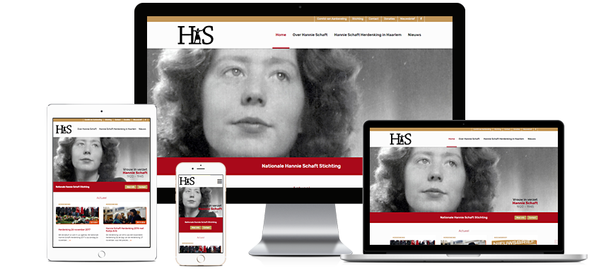 Nationale Hannie Schaft Stichting - Portfolio WordPress websites Sbddesign