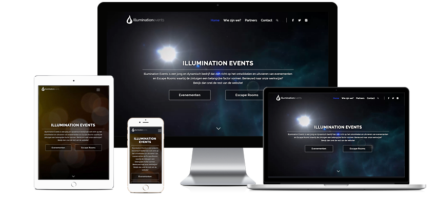 website voor Illumination events