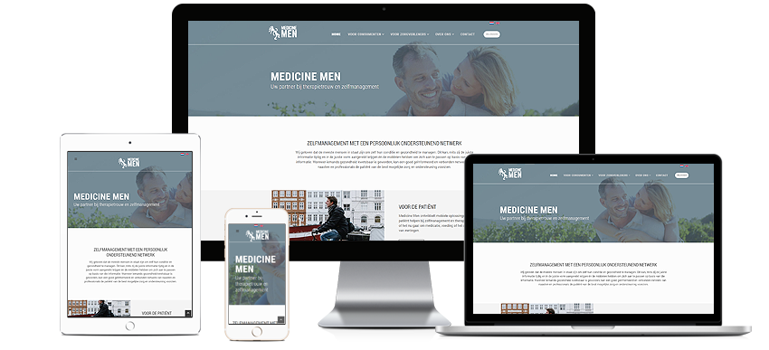 Website voor Medicine Men