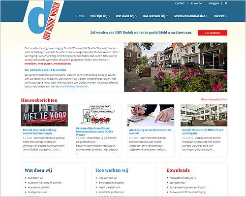 WordPress website voor HBV Dudok Wonen