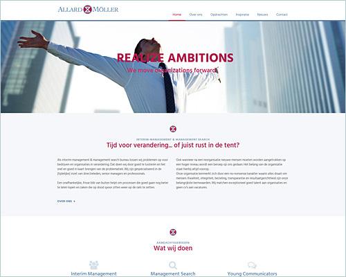 Website voor Allard Möller Management Groep BV