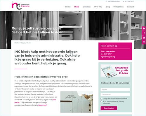 INC Professional Organizing | Sbd design portfolio