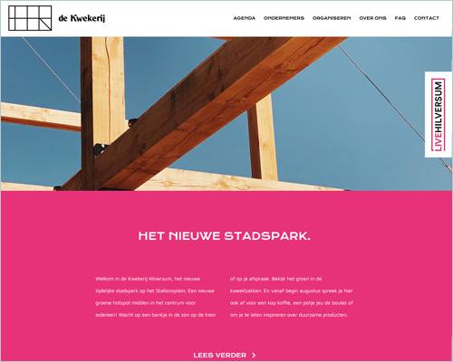 De Kwekerij Hilversum - portfolio Sbd design