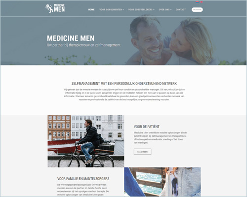Website voor Medicine Men
