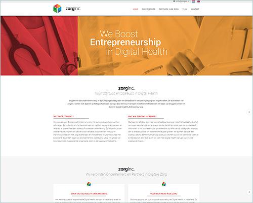 Website voor ZorgInc.